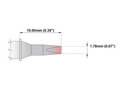 P Series Soldering Tip (PMXXCH176)