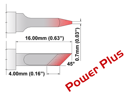 M Series Soldering Tip (MXDS035H)